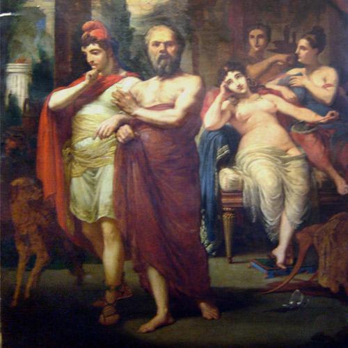 Sócrates afastando Alcebíades do vício - Pedro Américo