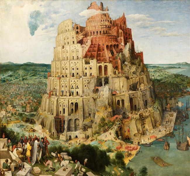 Pieter Brueghel the Elder - The Tower of Babel A construção da Torre de Babel era, para Dante, um exemplo de orgulho