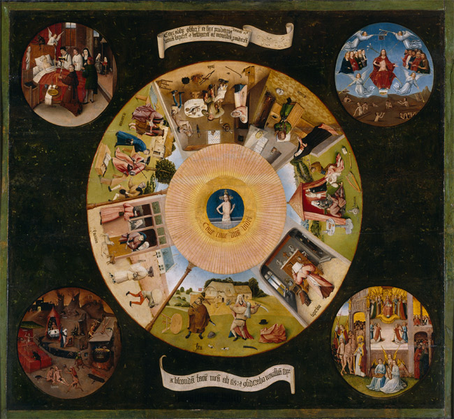 Hieronymus Bosch - The Seven Deadly Sins and the Four Last Things (Os Sete Pecados Capitais e as Quatro Últimas Coisas)